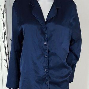 Other - Victoria's Secret VS Navy Blue Satin Pajamas Sz M